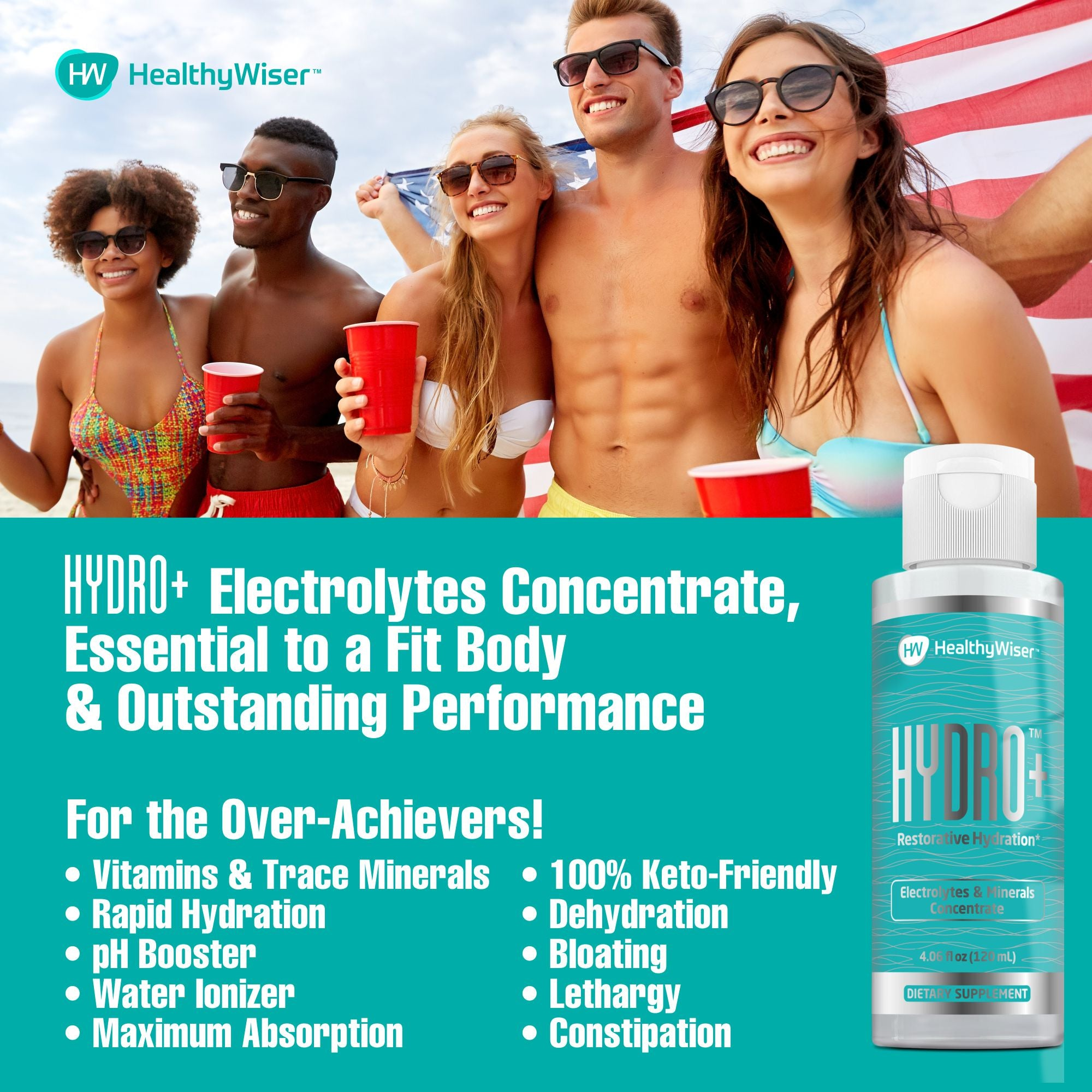 Hydro+ Electrolyte Supplement – Rapid Hydration Drops