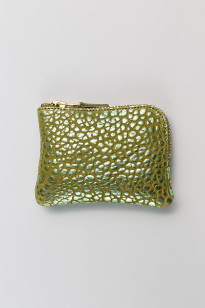 Olivine Green Metallic Bubbly