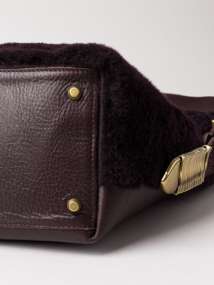 Aubergine Suede Shearling Salmon