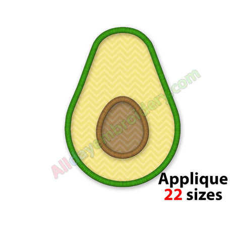 Avocado embroidery design