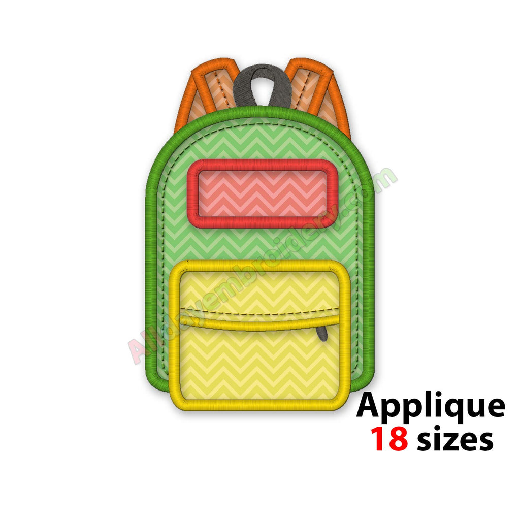 Backpack embroidery design