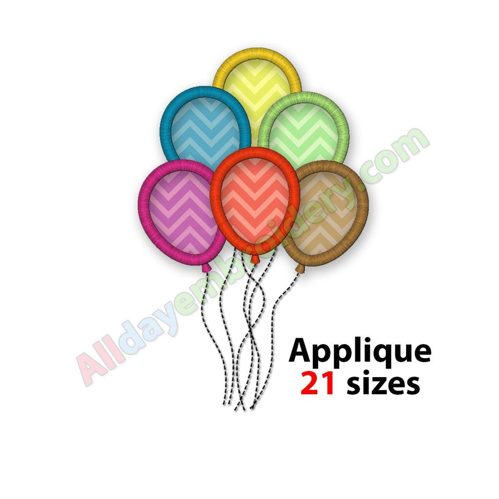 Party embroidery designs