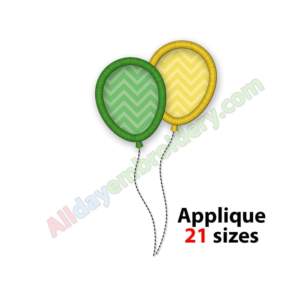 Balloons applique embroidery
