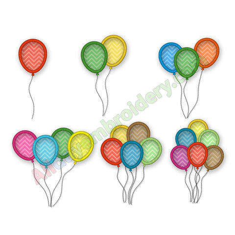 Balloons Applique Set