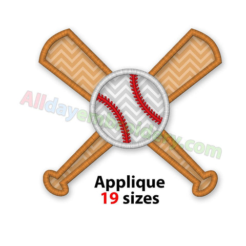 Baseball bats applique