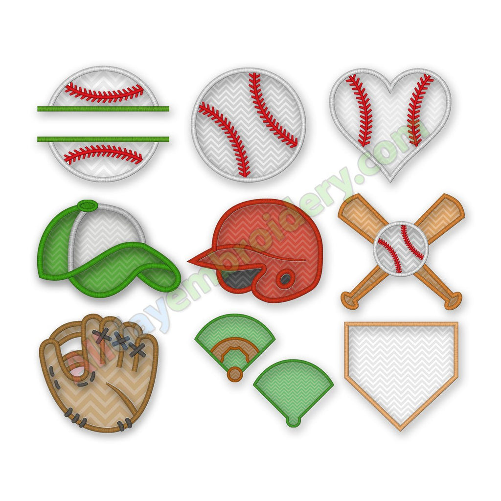 Baseball Applique Design Set