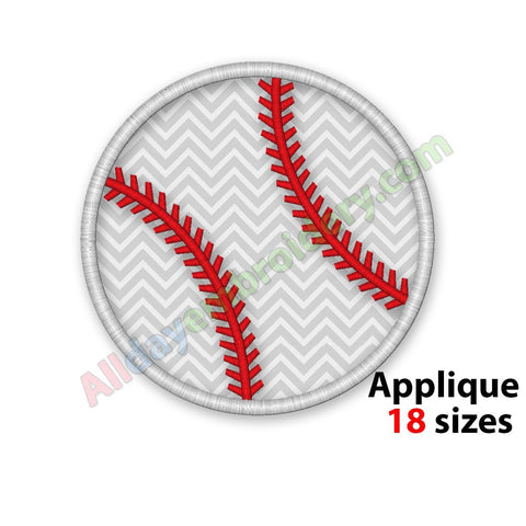 Baseball ball applique