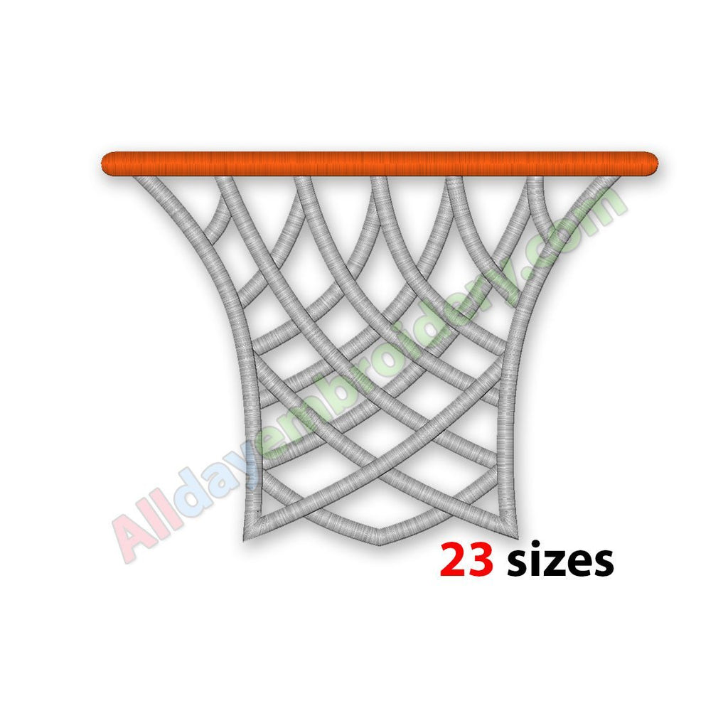 Basketball Net Embroidery