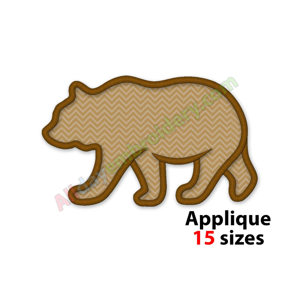 Bear embroidery design