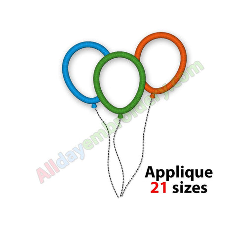 Balloons embroidery designs
