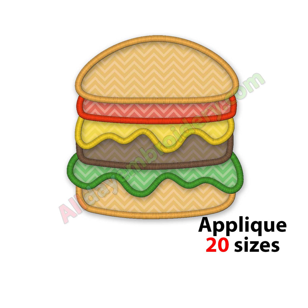 hamburger embroidery design