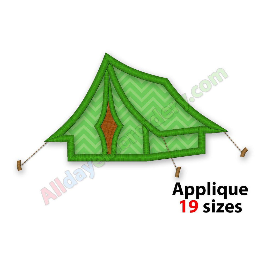 Camping tent embroidery