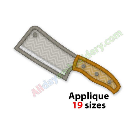 Knife applique design
