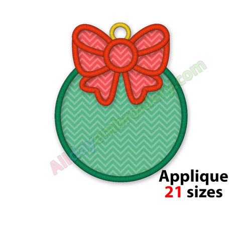 Christmas ball applique