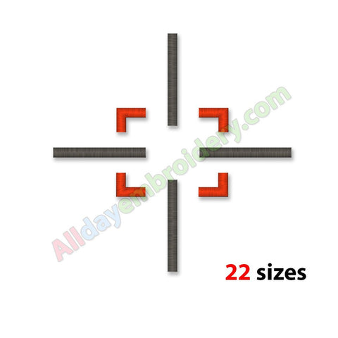 Crosshair Embroidery