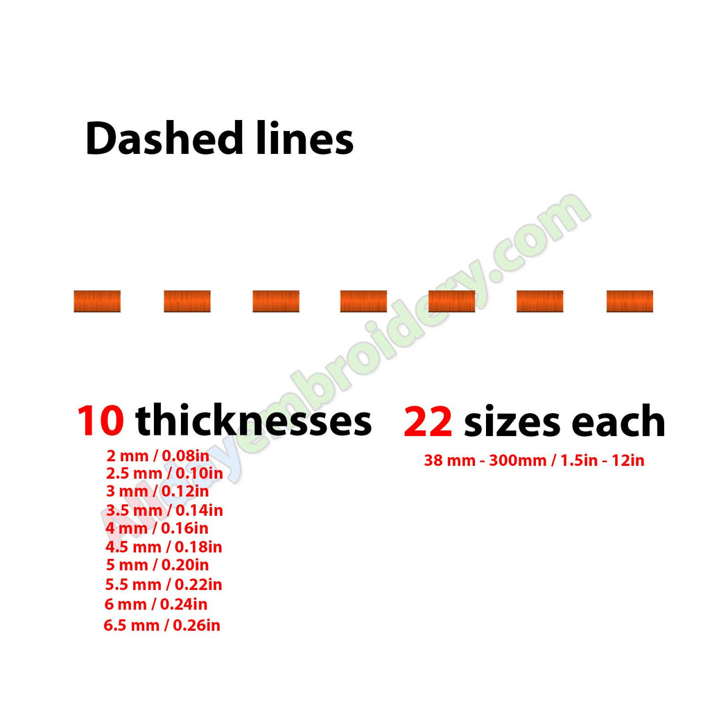Dashed line embroidery