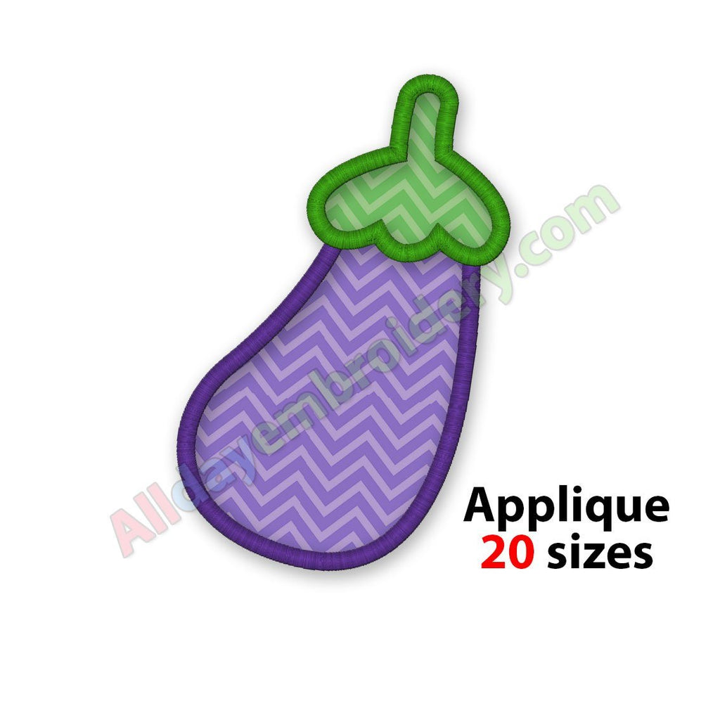 Eggplant applique