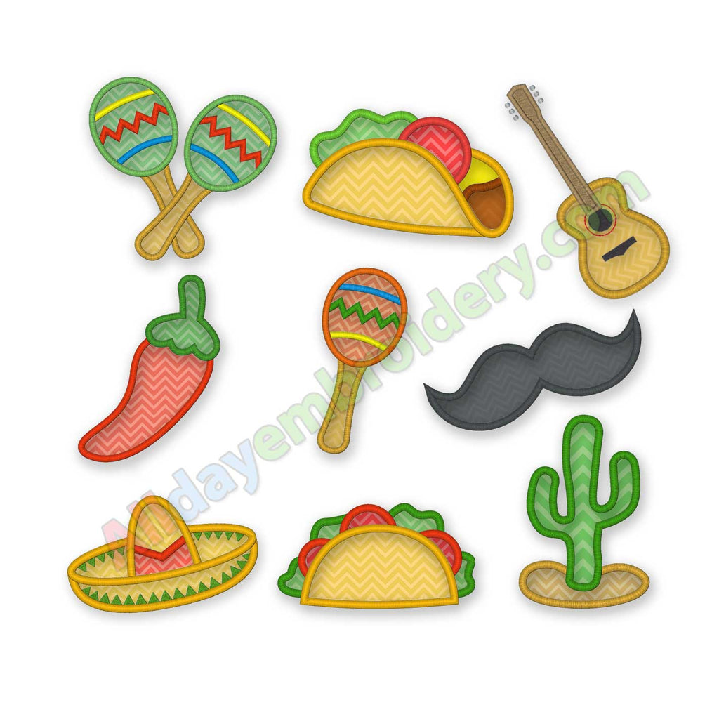 Fiesta applique design