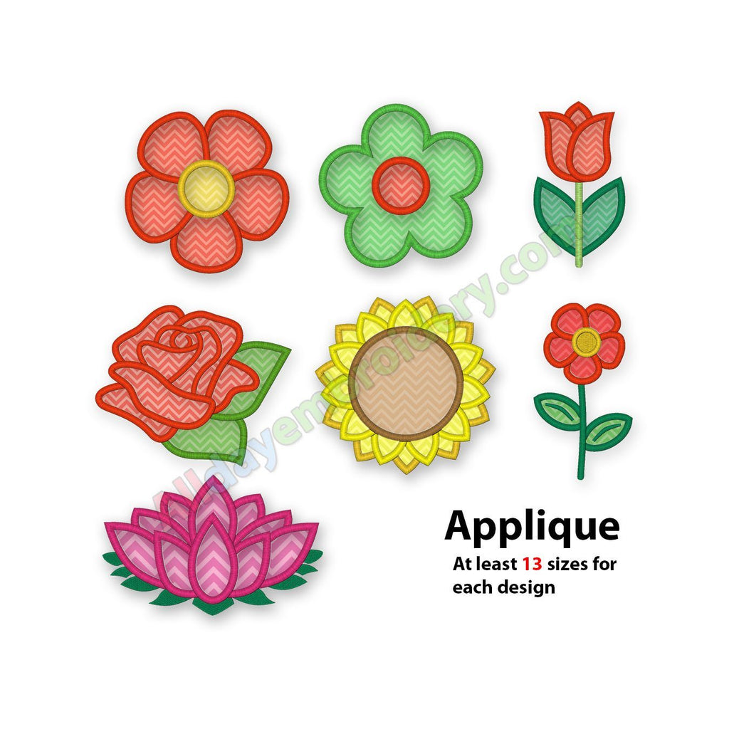 Flower Applique Set