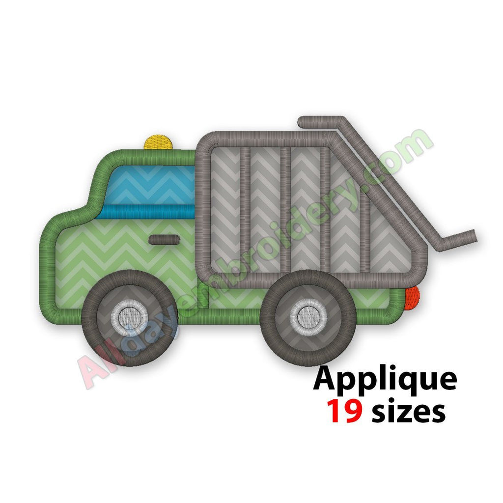 Garbage Truck Embroidery Design Machine Embroidery Design Applique