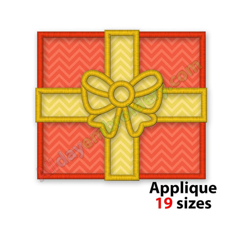 Gift Box Applique