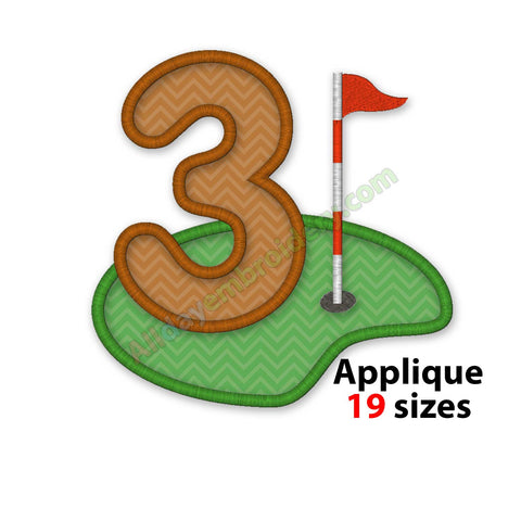 Golf number applique