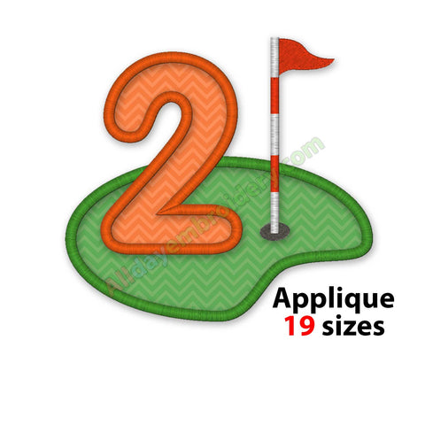 Golf numbers embroidery
