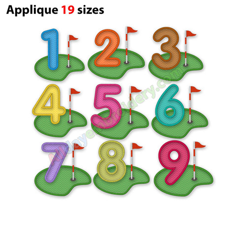 Number applique embroidery