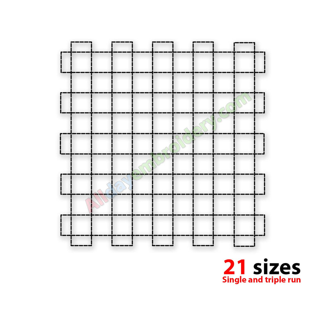 Grid quilt block embroidery design