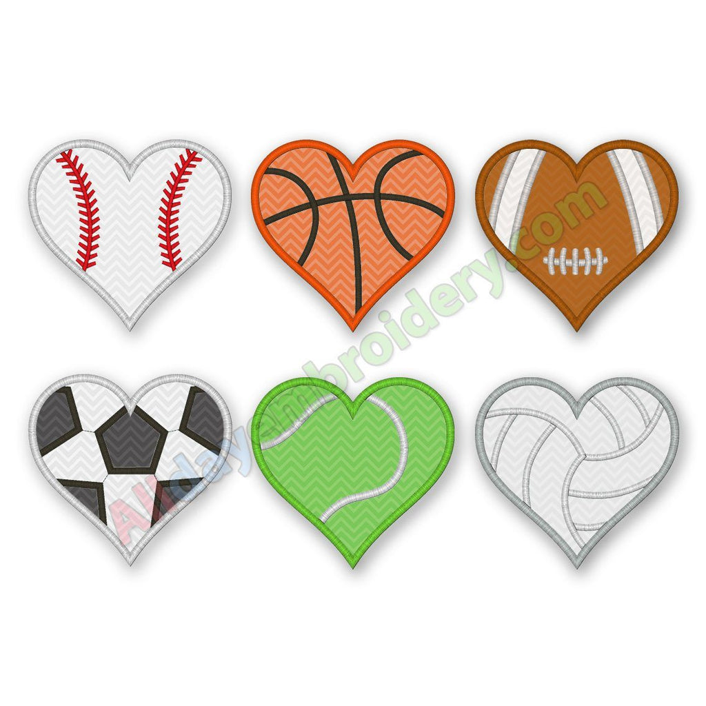 Heart Balls Applique set