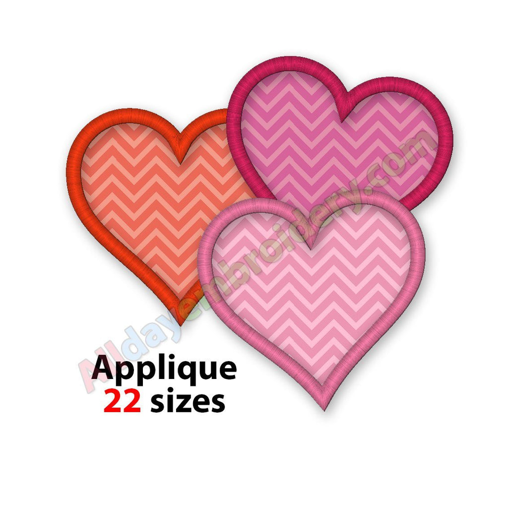 Hearts Applique Design