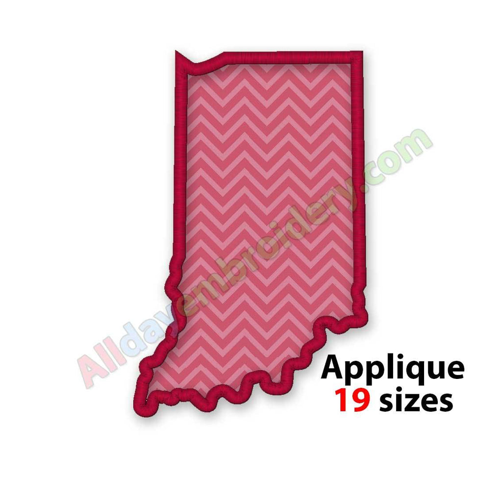 Indiana embroidery design