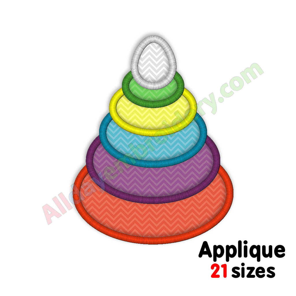 toy pyramid embroidery design