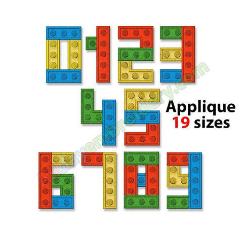Lego Numbers Applique Set
