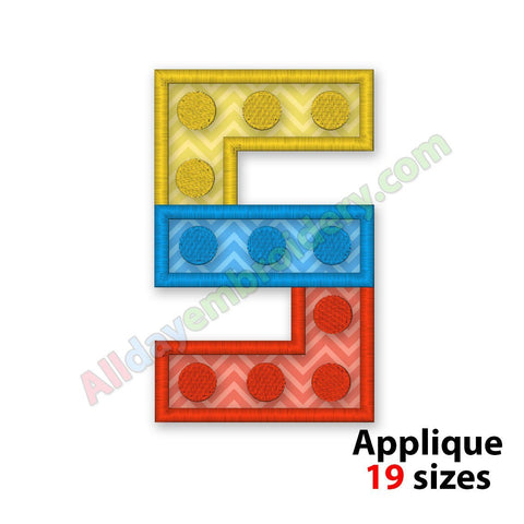 Number Five Applique