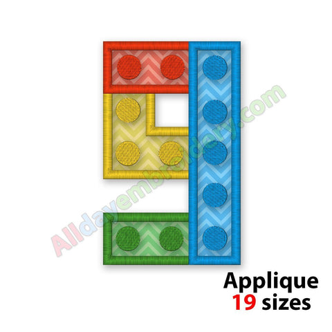 Number Nine Applique