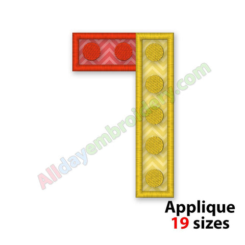 Number Seven Applique