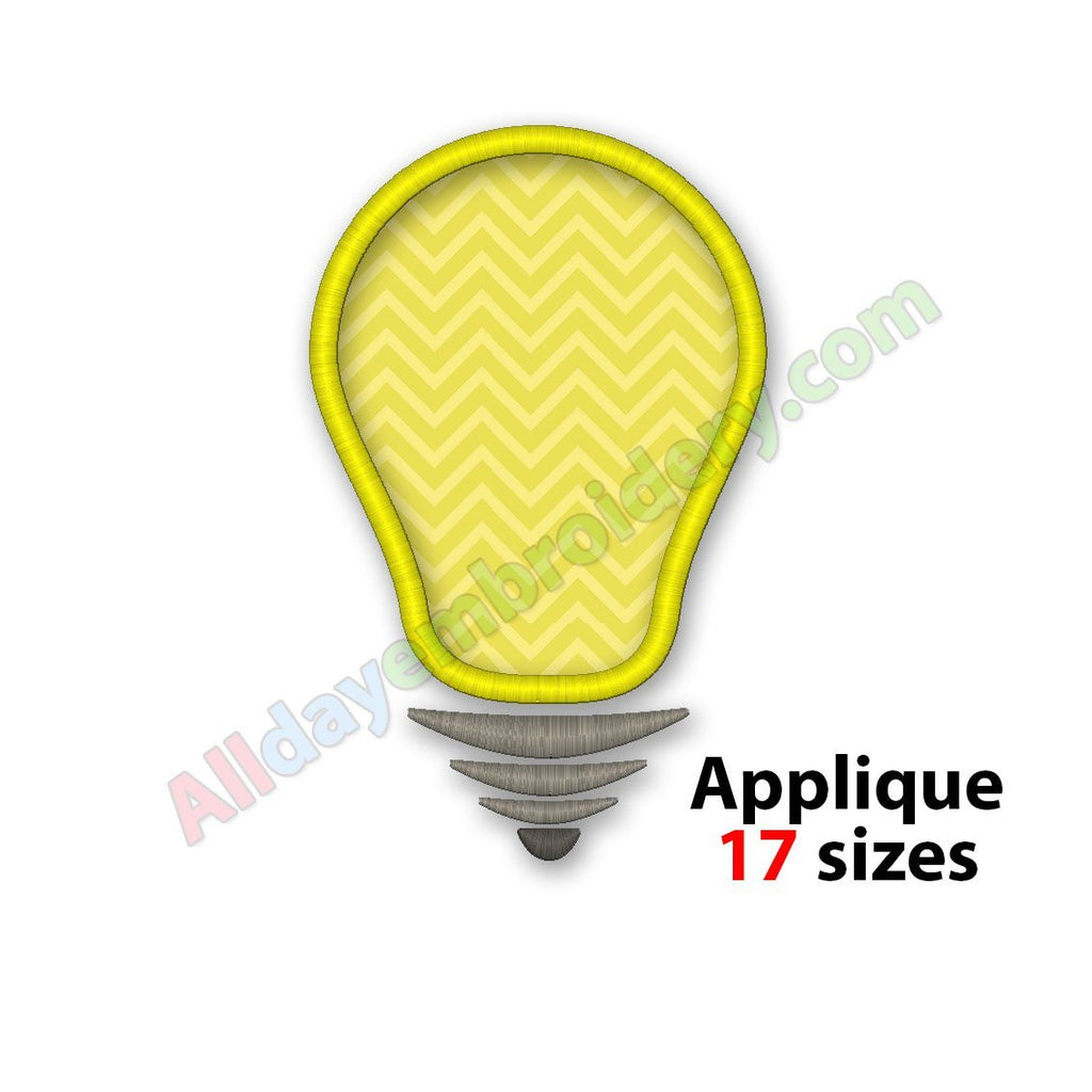 Light Bulb Applique