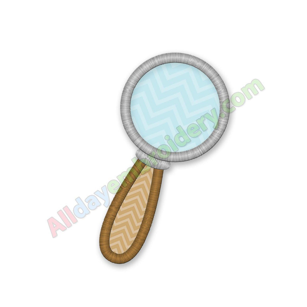 Magnifying Glass Applique