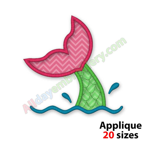 Mermaid embroidery design