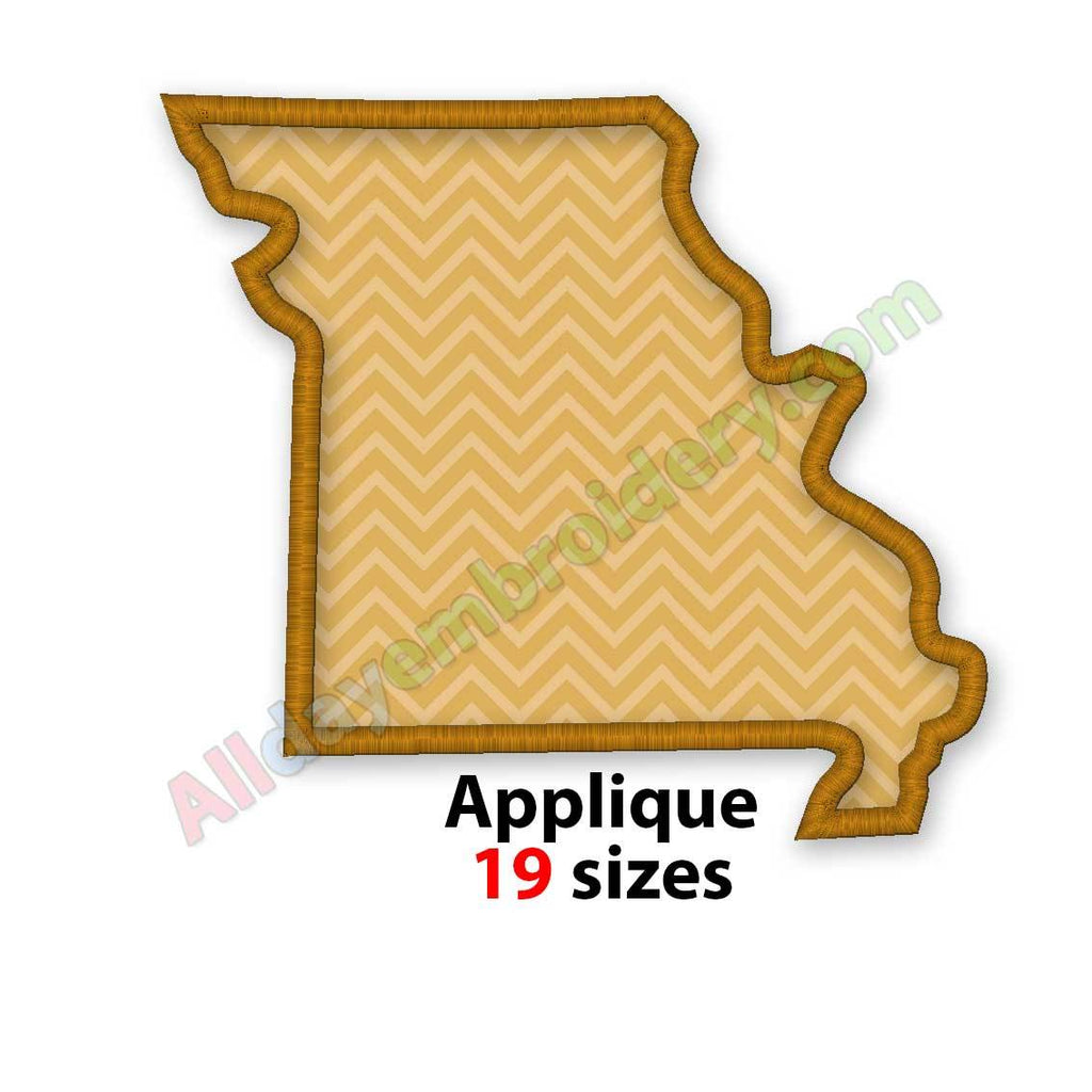 Missouri embroidery design