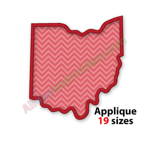 Ohio embroidery design