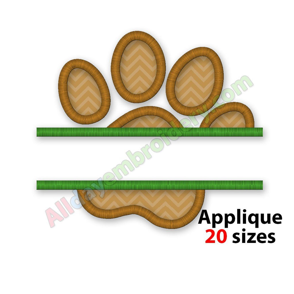 paw print applique design