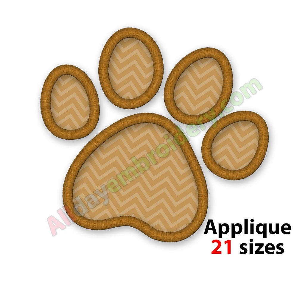Paw print applique