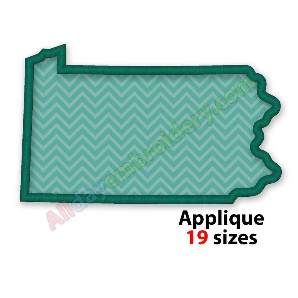 Pennsylvania embroidery design