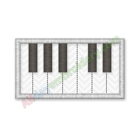 Piano Keyboard Applique