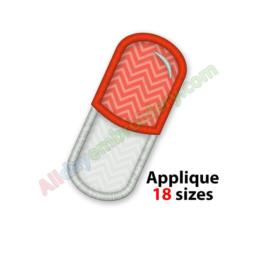 Pill Capsule Applique
