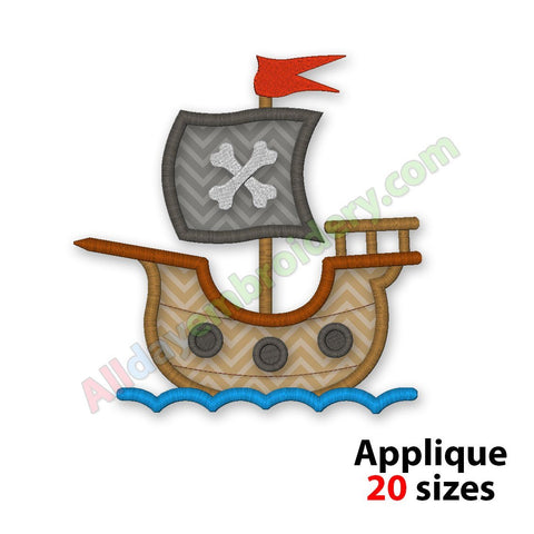 Pirate Ship Applique
