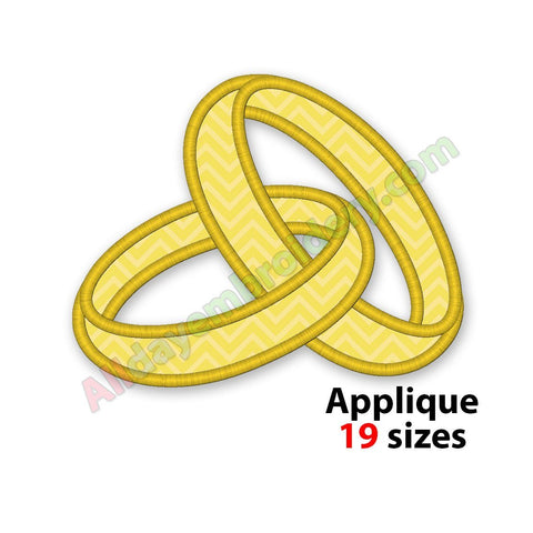 Rings embroidery design
