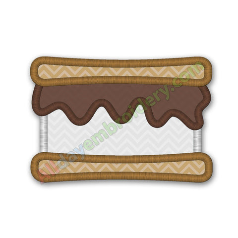 Smore embroidery design